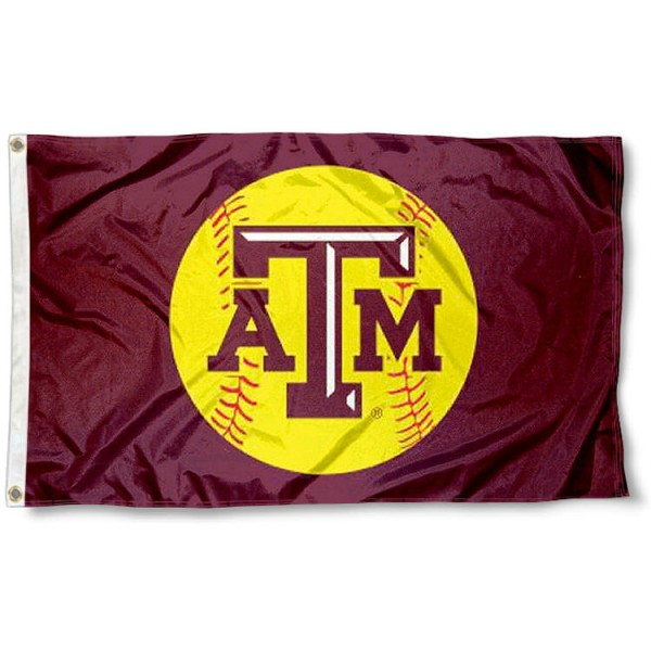 Women Aggies Softball Flag measures 3'x5', is made of 100% poly, has quadruple stitched sewing, two metal grommets, and has double sided Team University logos. Our Women Aggies Softball Flag is officially licensed by the selected university and the NCAA.