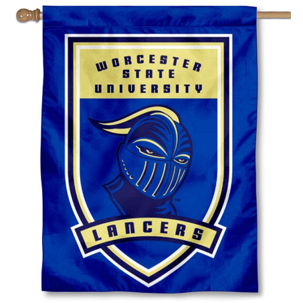 Worcester State Lancers Logo Double Sided House Flag is a vertical house flag which measures 30x40 inches, is made of 2 ply 100% polyester, offers screen printed NCAA team insignias, and has a top pole sleeve to hang vertically. Our Worcester State Lancers Logo Double Sided House Flag is officially licensed by the selected university and the NCAA.