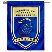 Worcester State Lancers Logo Double Sided House Flag