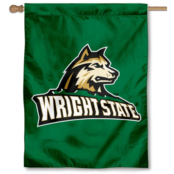 Wright State Raiders Double Sided House Flag is a vertical house flag which measures 30x40 inches, is made of 2 ply 100% polyester, offers screen printed NCAA team insignias, and has a top pole sleeve to hang vertically. Our Wright State Raiders Double Sided House Flag is officially licensed by the selected university and the NCAA.