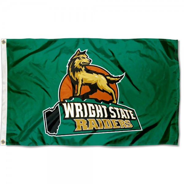 Wright State Raiders Logo Flag measures 3x5 feet, is made of 100% polyester, offers quadruple stitched flyends, has two metal grommets, and offers screen printed NCAA team logos and insignias. Our Wright State Raiders Logo Flag is officially licensed by the selected university and NCAA.