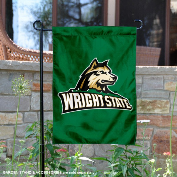 Wright State Raiders New Logo Garden Flag is 13x18 inches in size, is made of 2-layer polyester, screen printed university athletic logos and lettering, and is readable and viewable correctly on both sides. Available same day shipping, our Wright State Raiders New Logo Garden Flag is officially licensed and approved by the university and the NCAA.