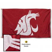 WSU Cougars Nylon Embroidered Flag