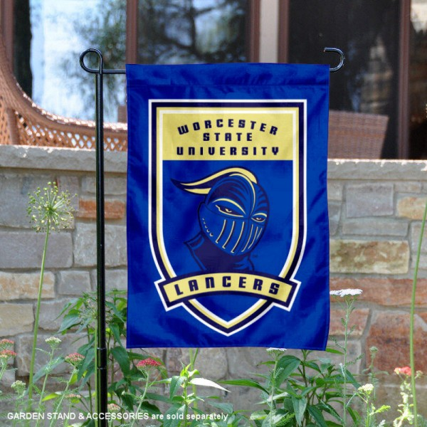 WSU Lancers Garden Flag is 13x18 inches in size, is made of thick blockout polyester, screen printed university athletic logos and lettering, and is readable and viewable correctly on both sides. Available same day shipping, our WSU Lancers Garden Flag is officially licensed and approved by the university and the NCAA.