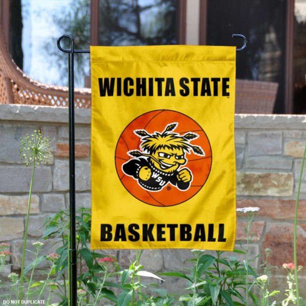 WSU Shockers Basketball Garden Banner is 13x18 inches in size, is made of 2-layer polyester, screen printed Wichita State University athletic logos and lettering. Available with Same Day Express Shipping, Our WSU Shockers Basketball Garden Banner is officially licensed and approved by Wichita State University and the NCAA.