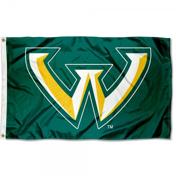 WSU Warriors Flag is made of Poly, Screen Printed logos of WSU Warriors, 3'x5' in Size, and Viewable from Both Sides. These Flags for WSU Warriors are a NCAA Licensed Product.