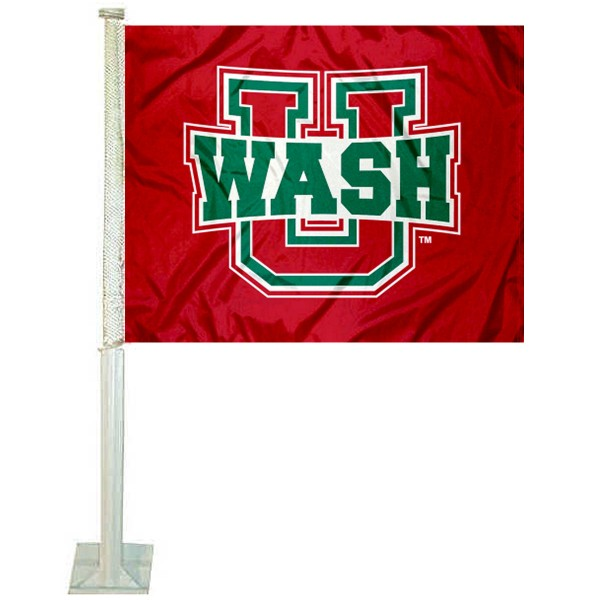 WUSTL Bears Logo Car Flag measures 12x15 inches, is constructed of sturdy 2 ply polyester, and has screen printed school logos which are readable and viewable correctly on both sides. WUSTL Bears Logo Car Flag is officially licensed by the NCAA and selected university.