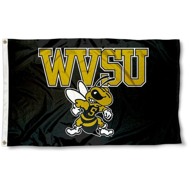 WVSU Yellow Jackets Flag measures 3x5 feet, is made of 100% polyester, offers quadruple stitched flyends, has two metal grommets, and offers screen printed NCAA team logos and insignias. Our WVSU Yellow Jackets Flag is officially licensed by the selected university and NCAA.