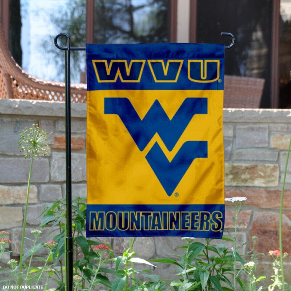 WVU Yard Flag is 13x18 inches in size, is made of 2-layer polyester, screen printed West Virginia Mountaineers athletic logos and lettering. Available with Same Day Express Shipping, Our WVU Yard Flag is officially licensed and approved by West Virginia Mountaineers and the NCAA.
