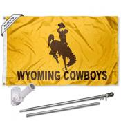 Wyoming Cowboys Gold Flag Pole and Bracket Kit