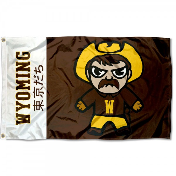 Wyoming Cowboys Kawaii Tokyo Dachi Yuru Kyara Flag measures 3x5 feet, is made of 100% polyester, offers quadruple stitched flyends, has two metal grommets, and offers screen printed NCAA team logos and insignias. Our Wyoming Cowboys Kawaii Tokyo Dachi Yuru Kyara Flag is officially licensed by the selected university and NCAA.