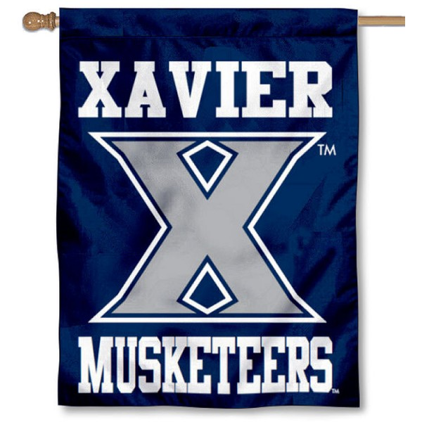 Xavier Banner Flag is a vertical house flag which measures 30x40 inches, is made of 2 ply 100% polyester, offers dye sublimated NCAA team insignias, and has a top pole sleeve to hang vertically. Our Xavier Banner Flag is officially licensed by the selected university and the NCAA.