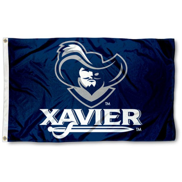 Xavier Musketeers 3x5 Flag is made of 100% nylon, offers quad stitched flyends, measures 3x5 feet, has two metal grommets, and is viewable from both side with the opposite side being a reverse image. Our Xavier Musketeers 3x5 Flag is officially licensed by the selected college and NCAA.