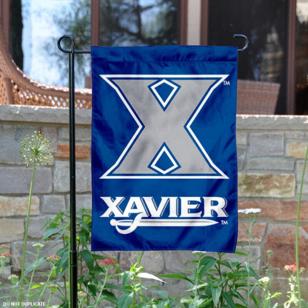 Xavier Musketeers Garden Flag is 13x18 inches in size, is made of 2-layer polyester, screen printed Xavier Musketeers athletic logos and lettering. Available with Same Day Express Shipping, Our Xavier Musketeers Garden Flag is officially licensed and approved by Xavier Musketeers and the NCAA.