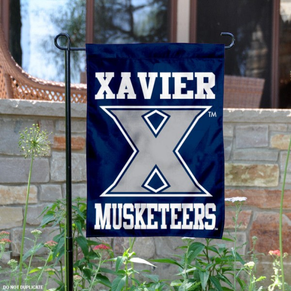 Xavier Musketeers Garden Flag is 13x18 inches in size, is made of 2-layer polyester, screen printed Xavier University athletic logos and lettering. Available with Same Day Express Shipping, Our Xavier Musketeers Garden Flag is officially licensed and approved by Xavier University and the NCAA.