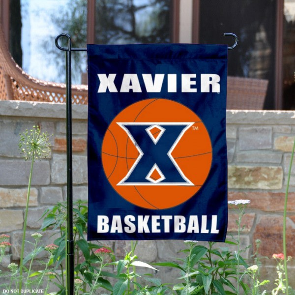 Xavier University Basketball Garden Banner is 13x18 inches in size, is made of 2-layer polyester, screen printed athletic logos and lettering. Available with Same Day Express Shipping, Our Xavier University Basketball Garden Banner is officially licensed and approved by the school and the NCAA.