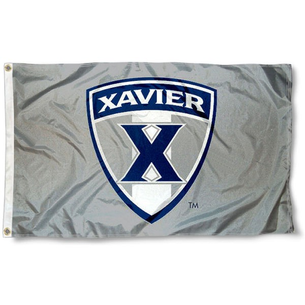 Xavier University Gray 3'x5' Flag measures 3'x5', is made of 100% poly, has quadruple stitched sewing, two metal grommets, and has double sided Xavier University logos. Our Xavier University Gray 3'x5' Flag is officially licensed by Xavier University and the NCAA.