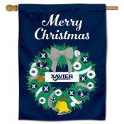 Xavier University Happy Holidays Banner Flag