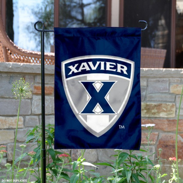 Xavier University Musketeers Garden Flag is 13x18 inches in size, is made of 2-layer polyester, screen printed Xavier University athletic logos and lettering. Available with Same Day Express Shipping, Our Xavier University Musketeers Garden Flag is officially licensed and approved by Xavier University and the NCAA.