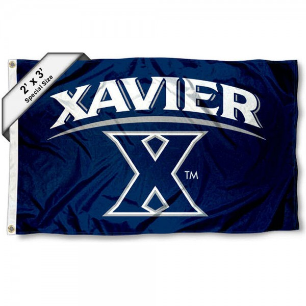 Xavier University Small 2'x3' Flag measures 2x3 feet, is made of 100% polyester, offers quadruple stitched flyends, has two brass grommets, and offers printed Xavier University logos, letters, and insignias. Our 2x3 foot flag is Officially Licensed by the selected university.