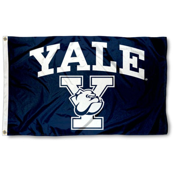 Yale Bulldogs Athletic Logo Flag is made of 100% nylon, offers quad stitched flyends, measures 3x5 feet, has two metal grommets, and is viewable from both side with the opposite side being a reverse image. Our Yale Bulldogs Athletic Logo Flag is officially licensed by the selected college and NCAA