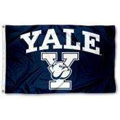 Yale Bulldogs Athletic Logo Flag