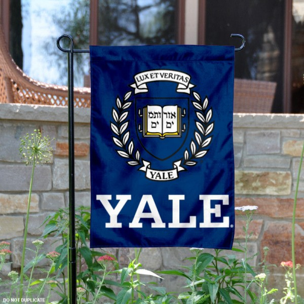 Yale Bulldogs Coat of Arms Garden Flag is 13x18 inches in size, is made of 2-layer polyester, screen printed logos and lettering. Available with Same Day Express Shipping, Our Yale Bulldogs Coat of Arms Garden Flag is officially licensed and approved by the College and the NCAA.