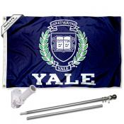 Yale Bulldogs Flag Pole and Bracket Kit