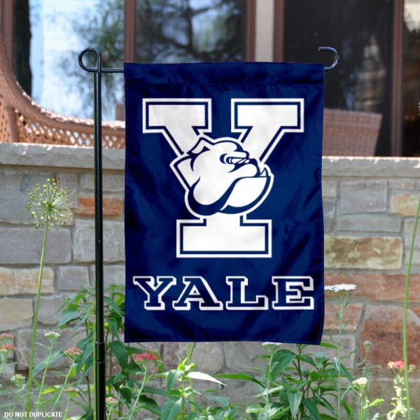 Yale Bulldogs Garden Flag is 13x18 inches in size, is made of 2-layer polyester, screen printed Yale Bulldogs athletic logos and lettering. Available with Same Day Express Shipping, Our Yale Bulldogs Garden Flag is officially licensed and approved by Yale Bulldogs and the NCAA.