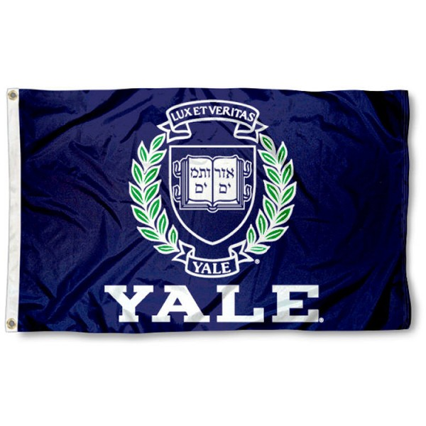 This Yale Flag measures 3'x5', is made of 100% nylon, has quad-stitched sewn flyends, and has two-sided Yale printed logos. Our Yale Flag is officially licensed and all flags for Yale are approved by the NCAA and Same Day UPS Express Shipping is available.