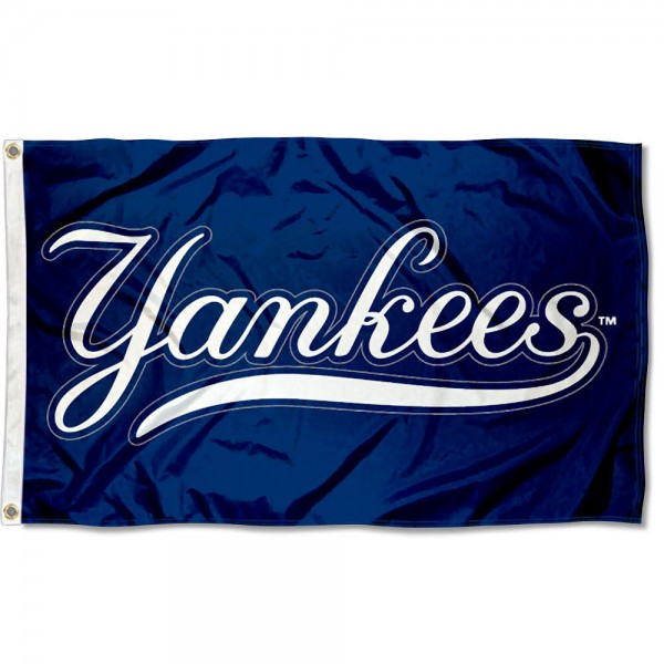 The Yankees Outdoor Flag is four-stitched bordered, double sided, made of poly, 3'x5', and has two grommets. These New York Yankees Outdoor Flags are MLB Genuine Merchandise.