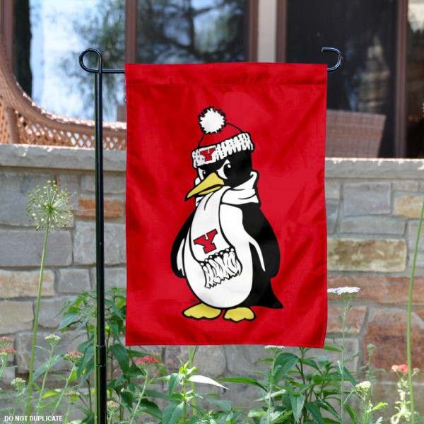 Youngstown State Garden Flag is 13x18 inches in size, is made of 2-layer polyester, screen printed Youngstown State athletic logos and lettering. Available with Same Day Express Shipping, Our Youngstown State Garden Flag is officially licensed and approved by Youngstown State and the NCAA.