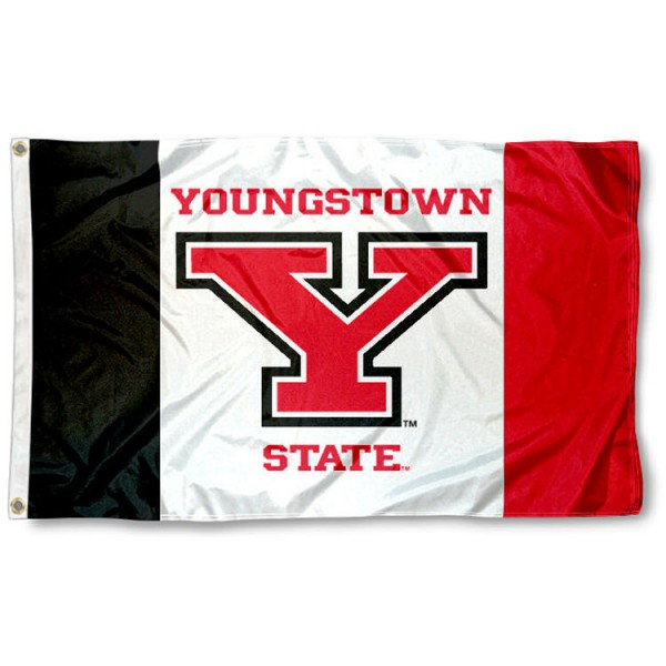 Youngstown State Penguins Panel Flag is made of 100% nylon, offers quad stitched flyends, measures 3x5 feet, has two metal grommets, and is viewable from both side with the opposite side being a reverse image. Our Youngstown State Penguins Panel Flag is officially licensed by the selected college and NCAA