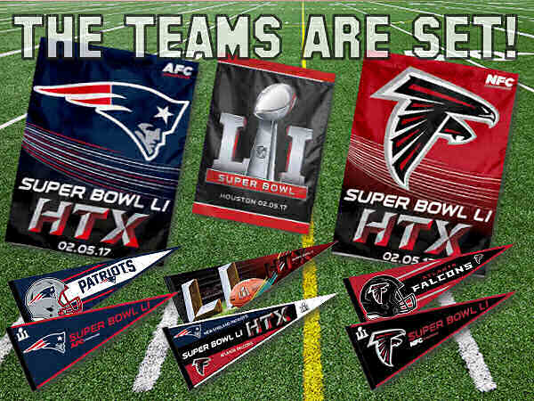 AFC and NFC Champions Flags and Pennants