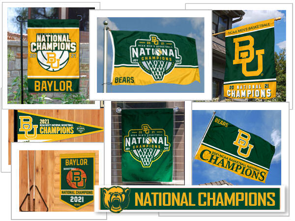 Baylor National Basketball Champions Flags