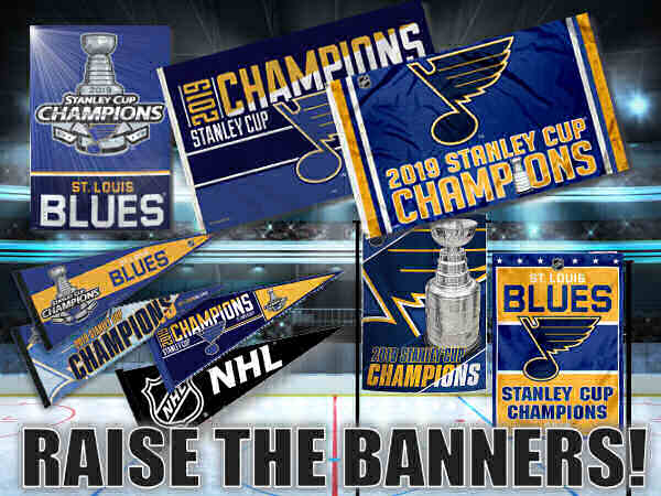 St. Louis Blues NHL Stanley Cup Champions Flags, Banners, and Pennants