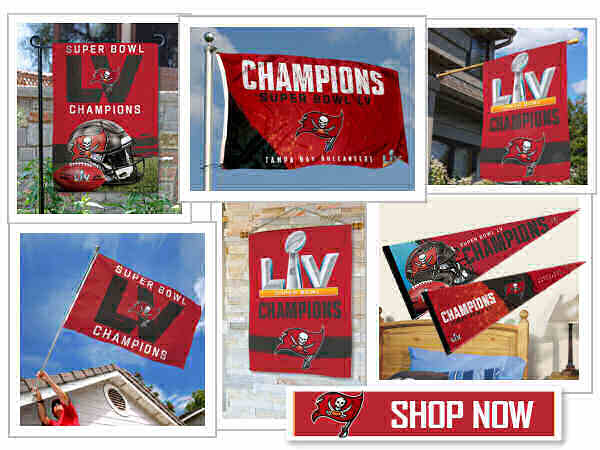 Buccaneers Super Bowl Champions Flags and Banners