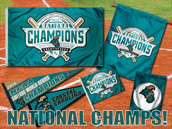 Coastal Carolina World Series Champs Flags, Banners, Pennants