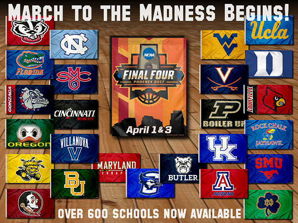 College Basketball Flags, Banners, Pennants