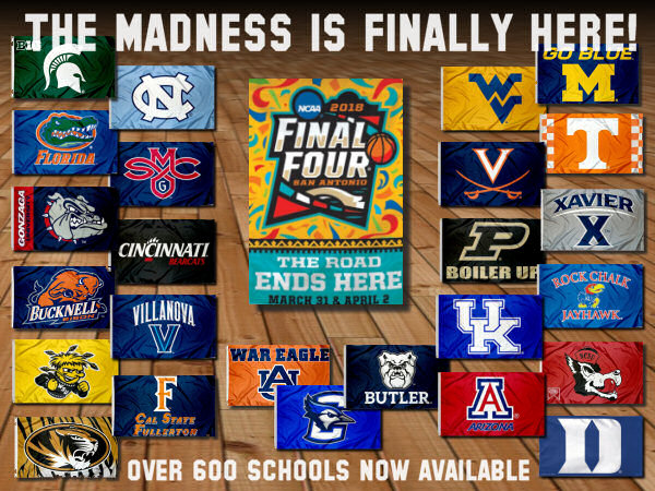 College Final Four Flags and Pennants