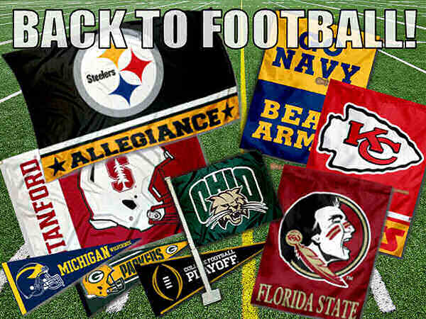 College and NFL Flags and Pennants