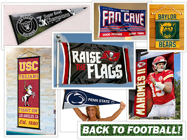 College and NFL Flags and Banners