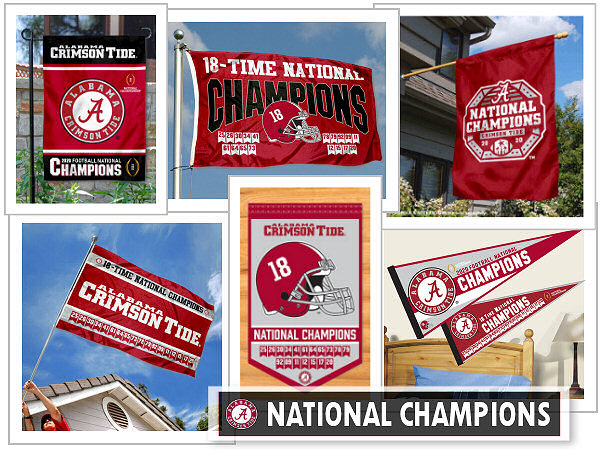 Alabama Crimson Tide 2020 National Champions Flags