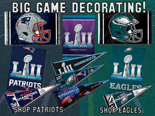 Philadelphia Eagles Super Bowl LII Flags