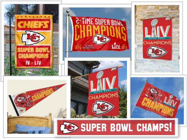 Kansas City Chiefs Super Bowl Champions Flags