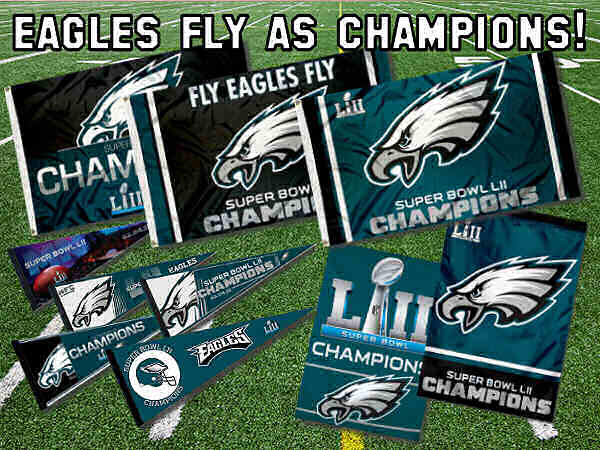 Philadelphia Eagles Super Champions Flags and Pennants