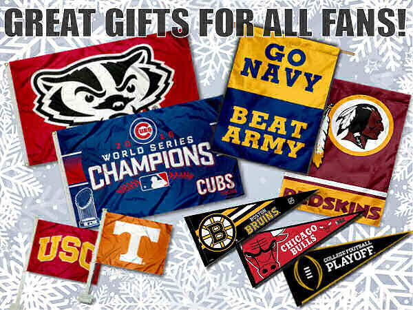 Sports Flags, Banners, Pennants as Holiday Gifts