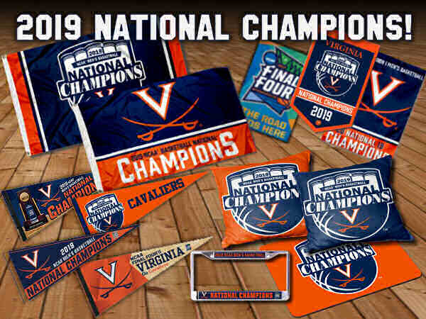 Virginia Cavaliers Basketball National Champions Flags and Banners