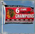 Blackhawks Stanley Cup Champs Flags