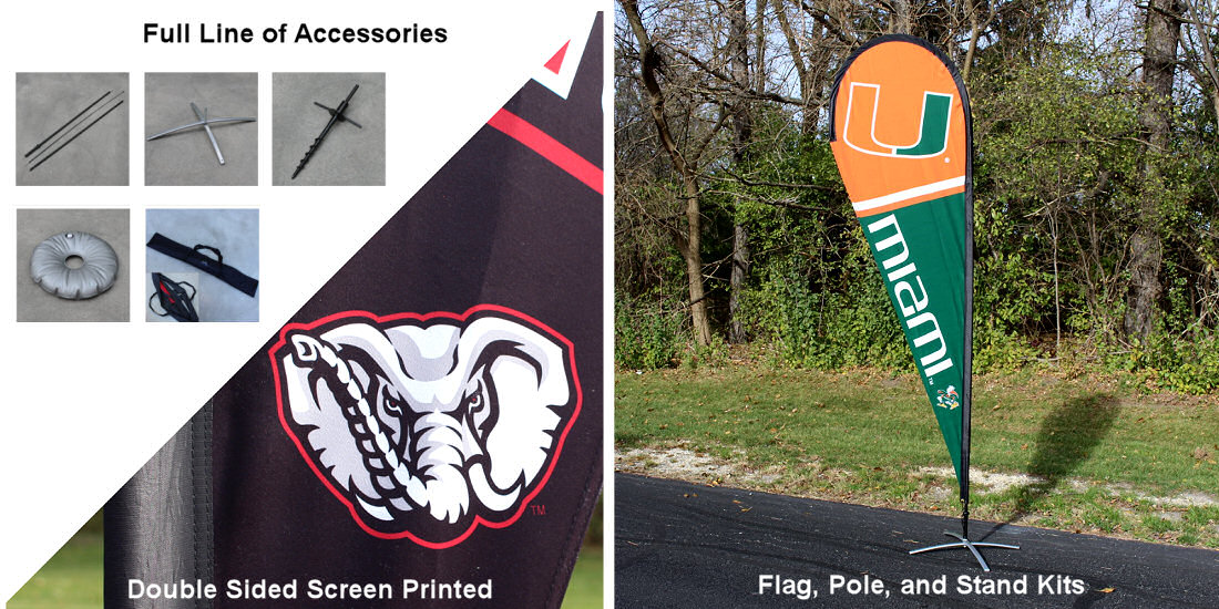 College Swooper and Feather Flag Kits